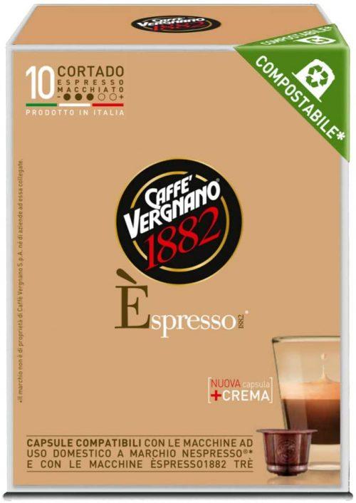 Vergnano Cortado Caffè Macchiato Capsula Compostabile 10 Capsule